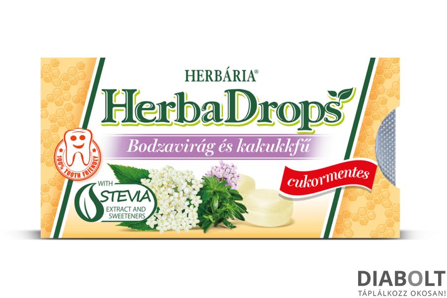 HERBADROPS BODZAVIRÁG ÉS KAKUKKFŰ ÍZŰ CUKORKA 8DB