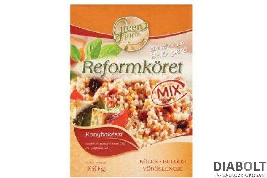 GREEN FARM REFORMKÖRET MIX (BULGUR,KÖLES,VÖRÖSLENCSE) 2X80G